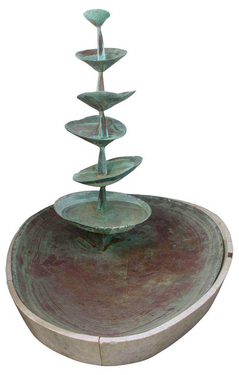 """Fran All Till Fall"" Midcentury Copper Fountain by Arne Jones, Sweden, 1957 2"