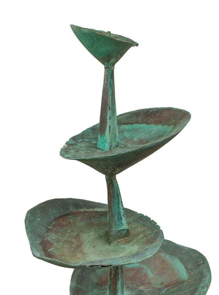"""Fran All Till Fall"" Midcentury Copper Fountain by Arne Jones, Sweden, 1957 3"