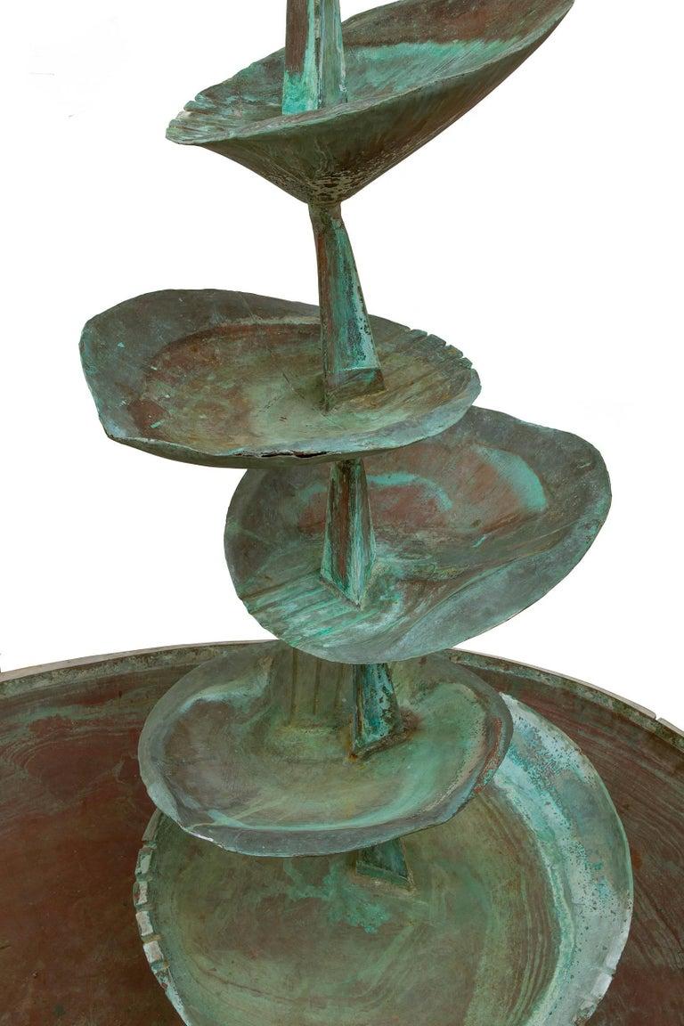 """Fran All Till Fall"" Midcentury Copper Fountain by Arne Jones, Sweden, 1957 4"