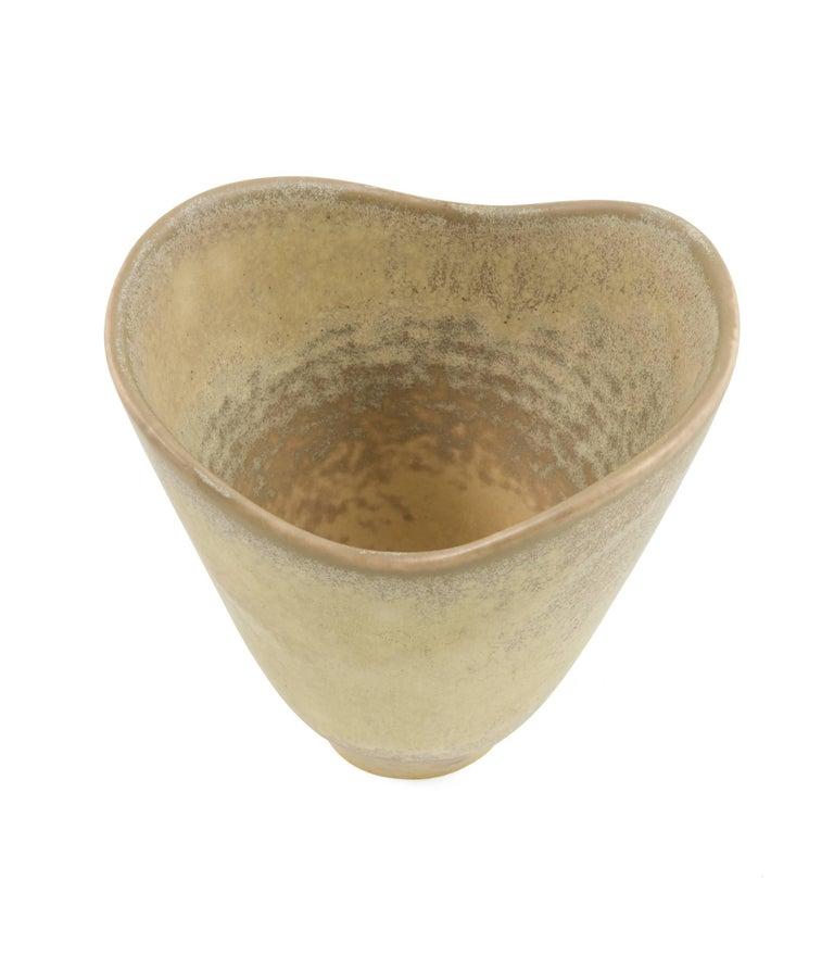 Scandinavian Modern Carl Harry Stalhane Stoneware Vase for Rörstrand, Sweden, 1950s For Sale