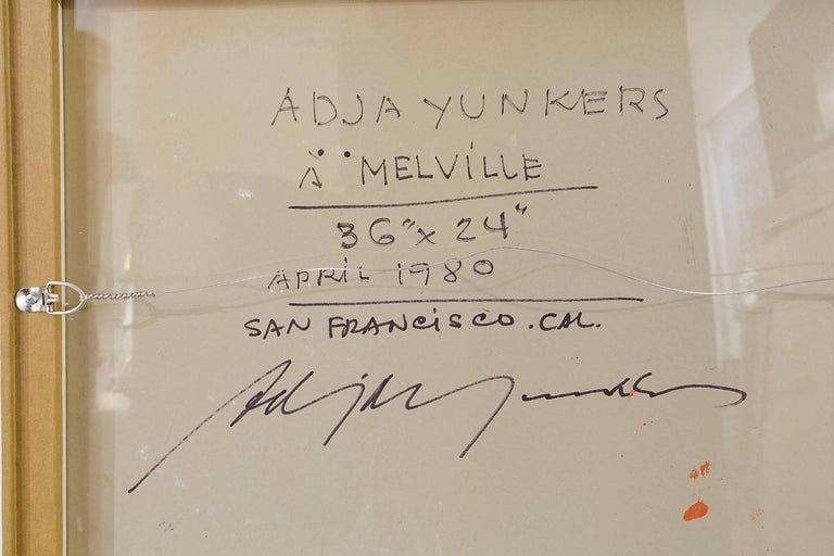 """Adja Yunkers Painting """"Melville"""" USA, 1980 For Sale 2"""