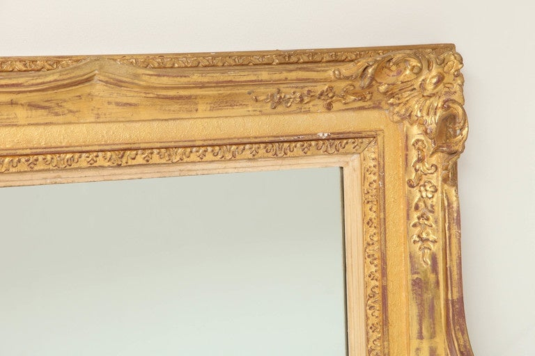 American Large Antique Mirror, C 1950 For Sale