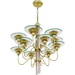 Pietro Chiesa / Fontana Arte Twelve-Arm Chandelier