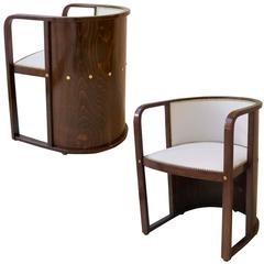 Josef Hoffmann Pair of Armchairs, Model 421