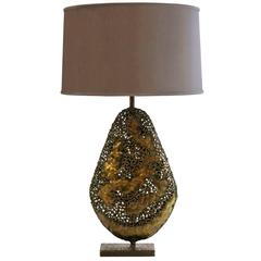 Marcello Fantoni Sculptural Metal Table Lamp