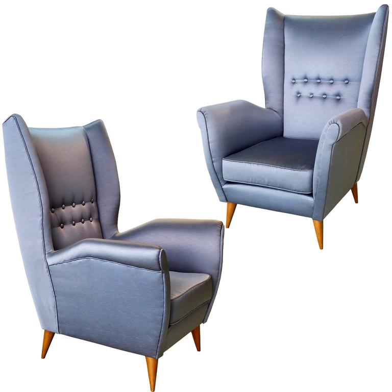 Gio Ponti Pair of Armchairs, # 512