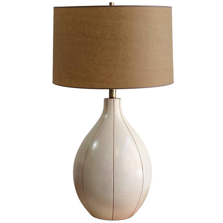 Large Scandinavian Modern Ceramic Table Lamp by Ewald Dahlskog