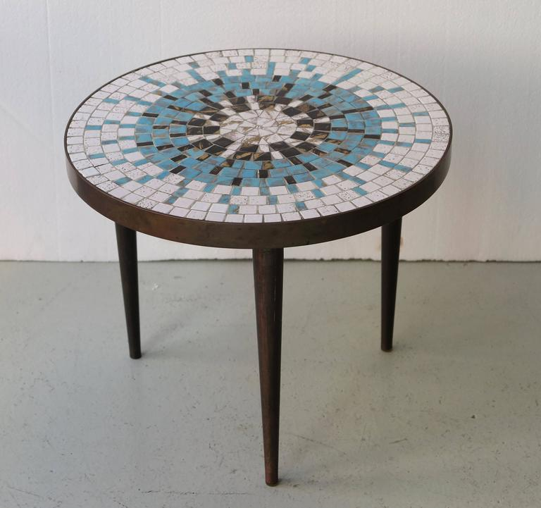 Small Mid Century Mosaic Table By Luberto 2