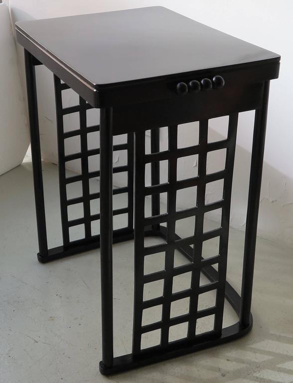 Austrian Nest of Tables with Grid by Josef Hoffmann For Sale