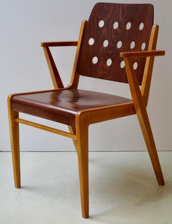Mid-Century Modern Franz Schuster Ten Stacking Armchairs, Austria For Sale