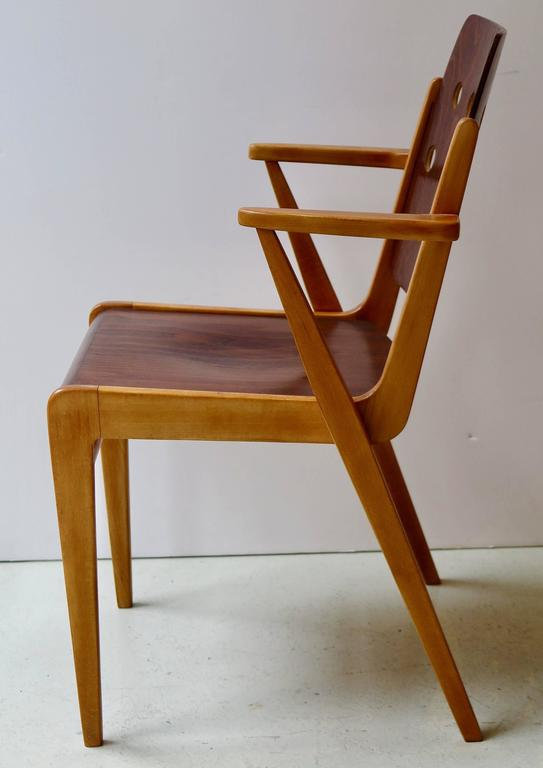 Austrian Franz Schuster Ten Stacking Armchairs, Austria For Sale