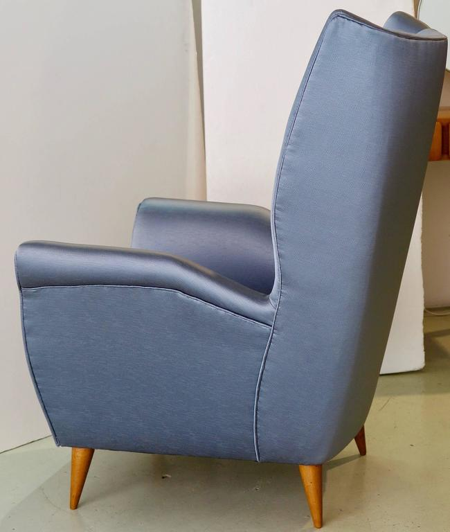 Italian Gio Ponti Pair of Armchairs, # 512 For Sale