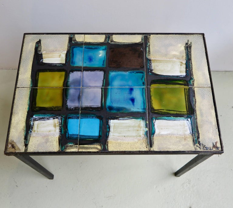 Mid-Century Modern Nest of Tables in Ceramic by Belarti For Sale