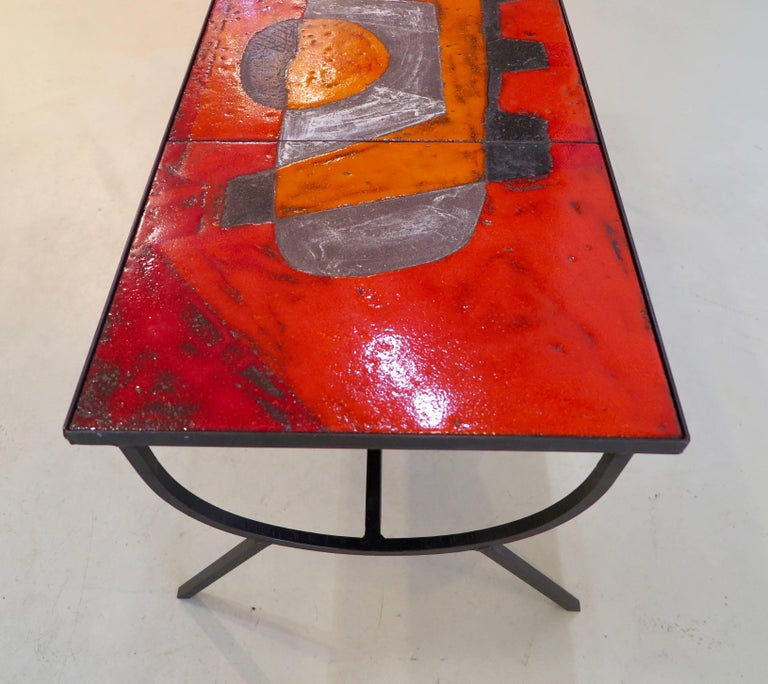 Mid-Century Modern Robert and Jean Cloutier Ceramic Coffee Table For Sale