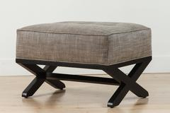 Dillon Ottoman in Ebonized Oak by Lawson-Fenning