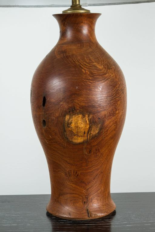 Vintage Burl Wood Lamp 2