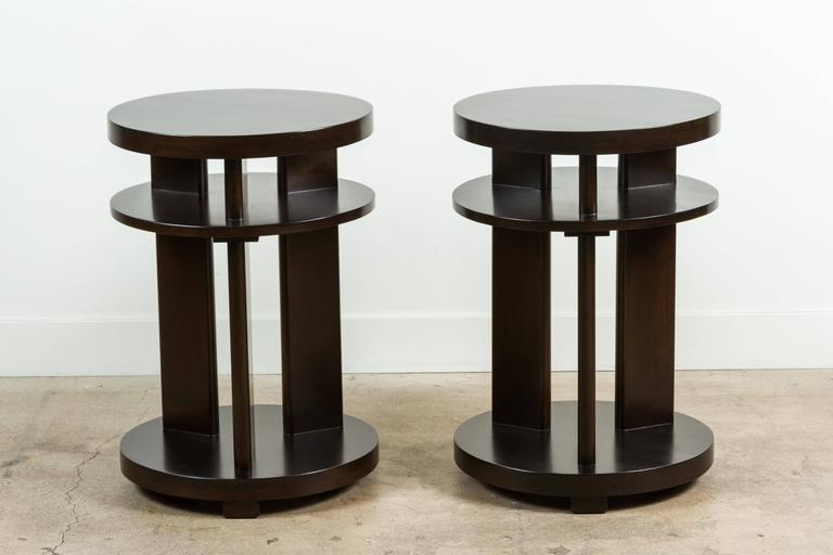 Pair of 1940s Mahogany Side Tables 9