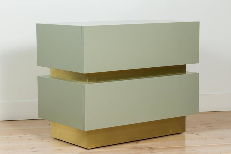 Stacked Box Nightstand with Brass by Lawson-Fenning 4