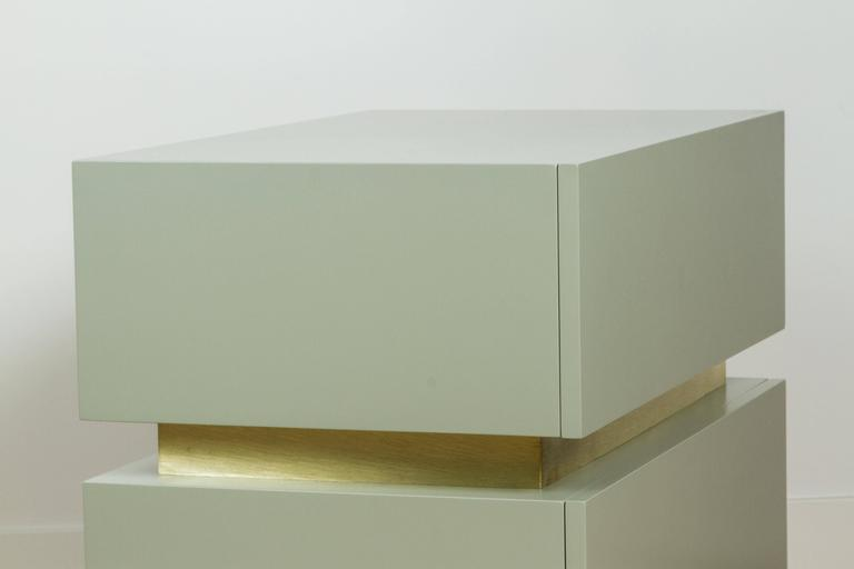 Stacked Box Nightstand with Brass by Lawson-Fenning 7