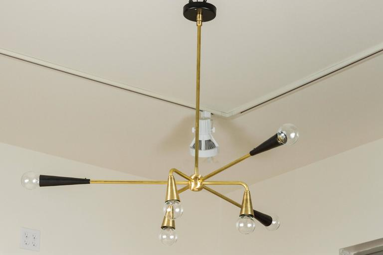 Contemporary Six Globe Chandelier by Lawson-Fenning For Sale