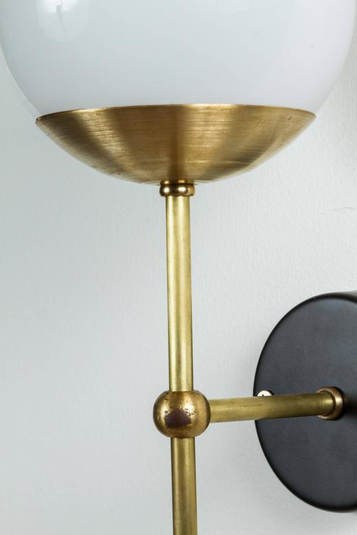 Contemporary Single Globe Sconce by Lawson-Fenning For Sale
