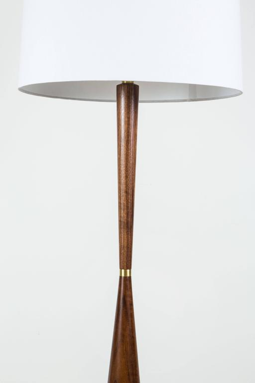 El Monte lamp by Lawson-Fenning in light walnut  Available to order in various finishes with a 10-12 week lead time.