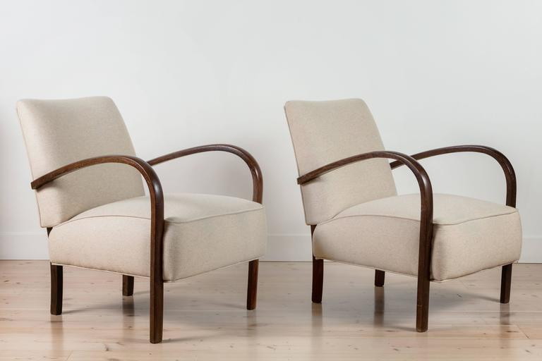 Pair of French, 1940s Club Chairs 2