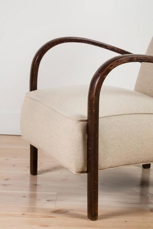 Pair of French, 1940s Club Chairs 8
