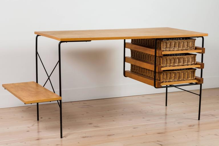 Iron and Maple Desk by Dorothy Schindele for Modern Color CA 4
