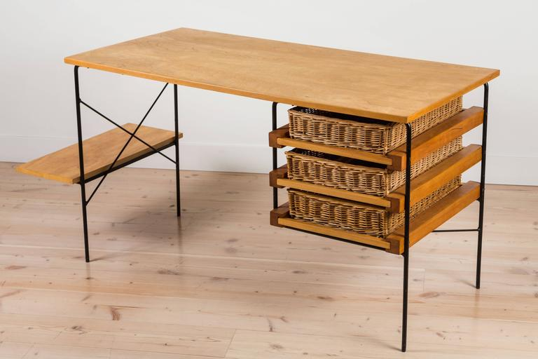 Iron and Maple Desk by Dorothy Schindele for Modern Color CA 3