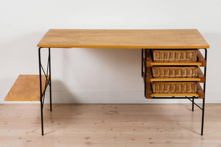 Iron and Maple Desk by Dorothy Schindele for Modern Color CA 5