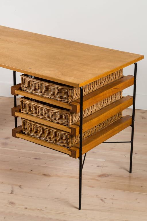 Iron and Maple Desk by Dorothy Schindele for Modern Color CA 6