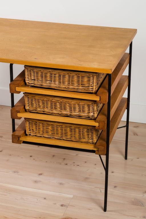 Iron and Maple Desk by Dorothy Schindele for Modern Color CA 7