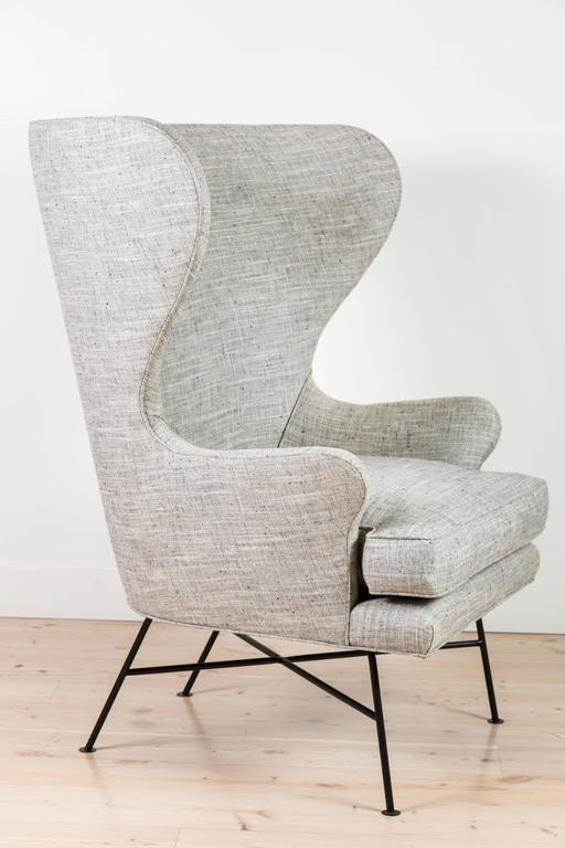 Pair of Modern Highland Wingback Chairs by Lawson-Fenning 4