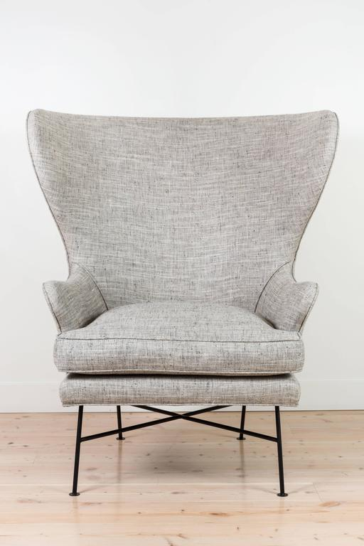 Pair of Modern Highland Wingback Chairs by Lawson-Fenning 2