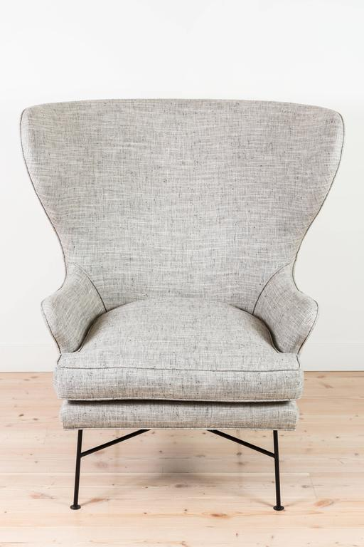 Pair of Modern Highland Wingback Chairs by Lawson-Fenning 6