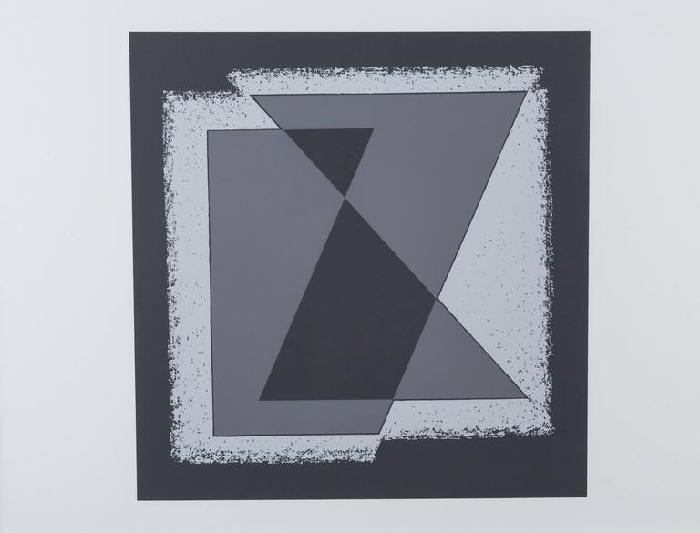 "Framed screen-print from ""Formulation: Articulation Portfolio II"" by Josef Albers. Individual images are unsigned, Albers signature appears on title page."