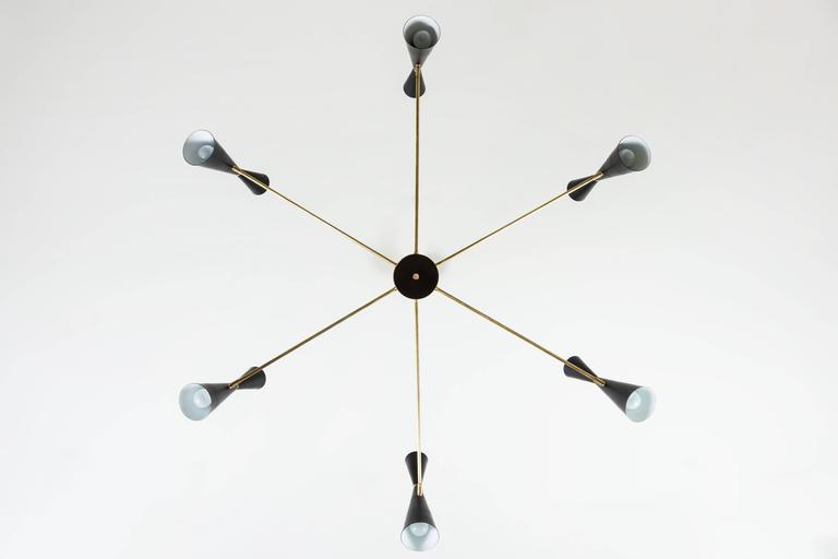 Contemporary Radial Chandelier by Lawson-Fenning For Sale