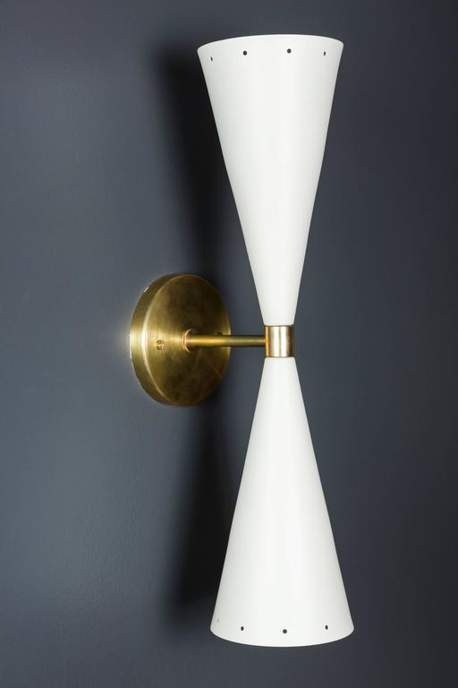 Double cone sconce by Lawson-Fenning.