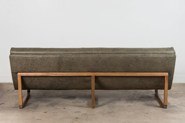Leather Griffin Sofa by Lawson-Fenning For Sale