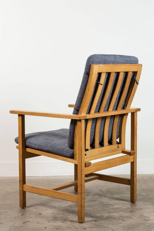 Pair of Danish Oak Lounge Chairs by Børge Mogensen for Fredericia Stolefabrik 7