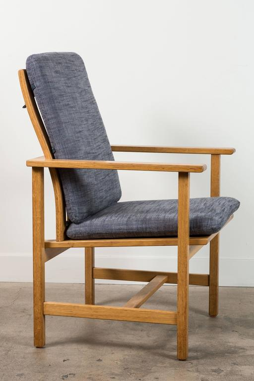 Pair of Danish Oak Lounge Chairs by Børge Mogensen for Fredericia Stolefabrik 3