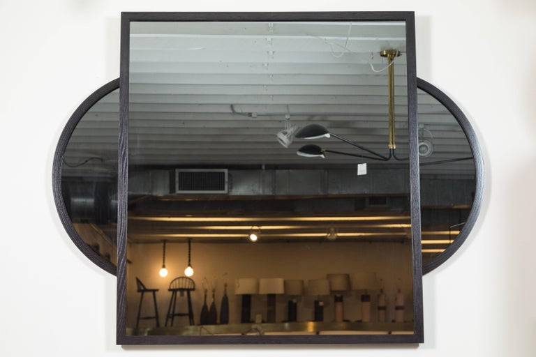 Mid-Century Modern Eclipse Mirror by O&G Studio For Sale