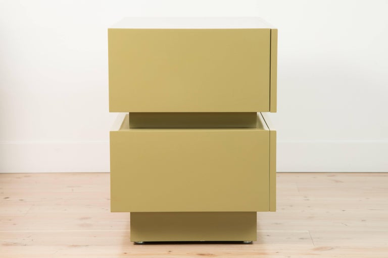 Pair of Large Stacked Box Nightstands by Lawson-Fenning 5