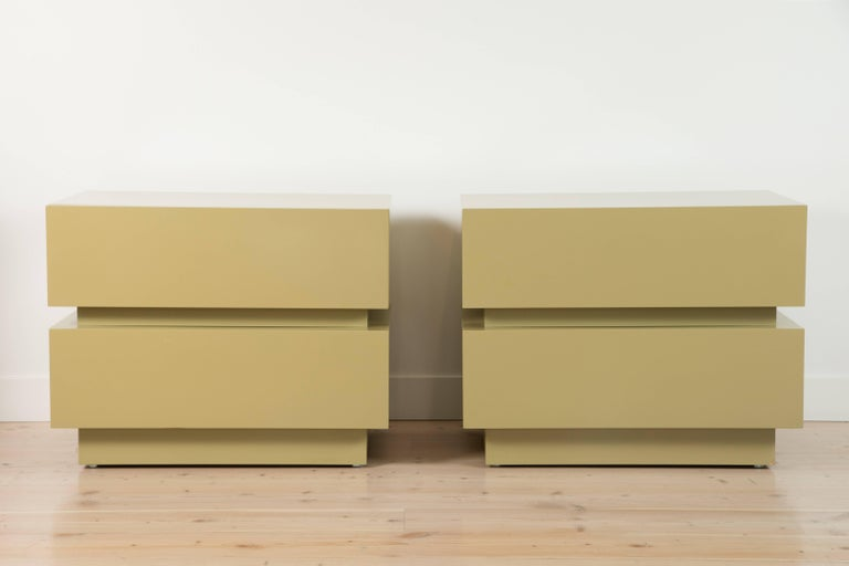 Pair of Large Stacked Box Nightstands by Lawson-Fenning 6