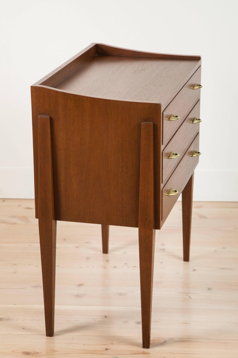 Mid-Century Modern Pair of Teak Nightstands by Frode Holm for Illums Bulgihus For Sale