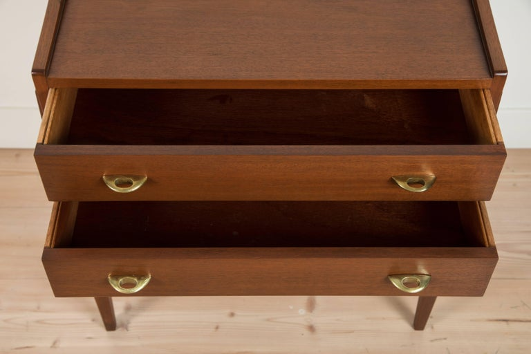Pair of Teak Nightstands by Frode Holm for Illums Bulgihus For Sale 1