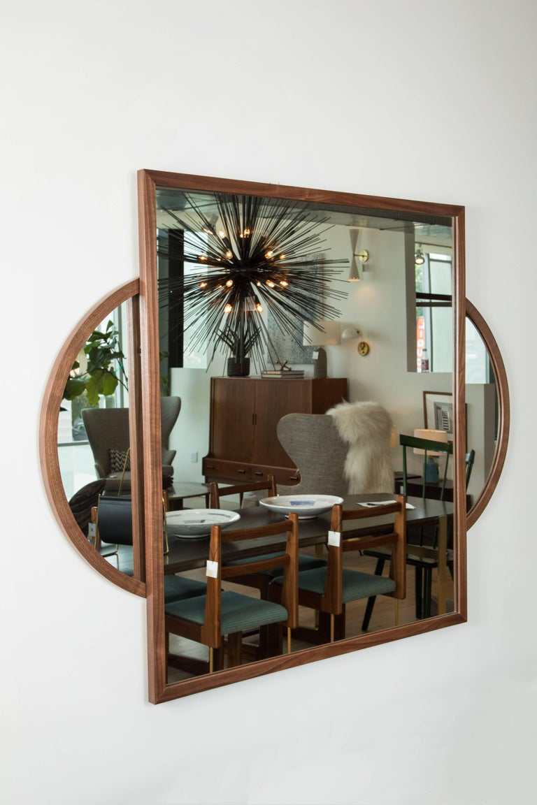 Walnut Eclipse Mirror by O&G Studio 3