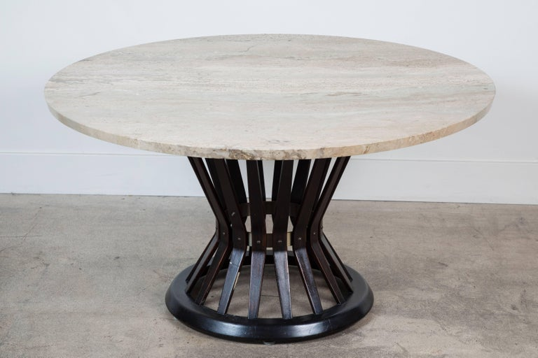 Sheaf of Wheat Marble Coffee Table by Edward Wormly for Dunbar 3