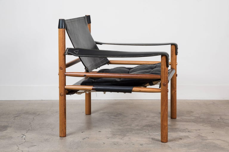 """Rosewood """"Sirocco"""" Safari chair by Arne Norell."""